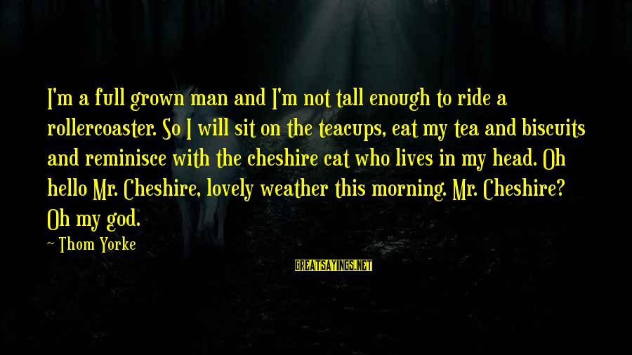 Morning Lovely Sayings By Thom Yorke: I'm a full grown man and I'm not tall enough to ride a rollercoaster. So