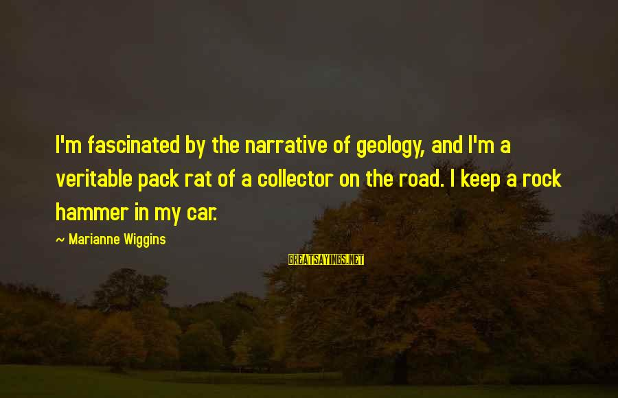 My Hammer Sayings By Marianne Wiggins: I'm fascinated by the narrative of geology, and I'm a veritable pack rat of a