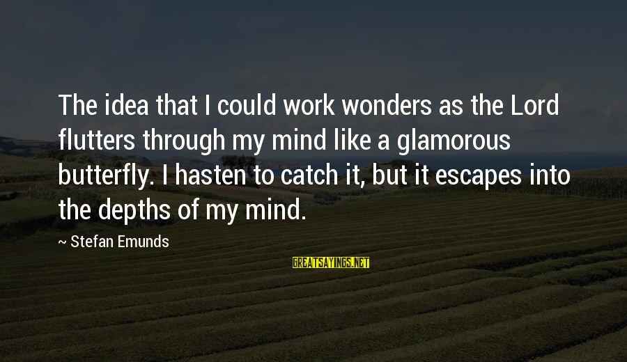 Mysticism Sayings By Stefan Emunds: The idea that I could work wonders as the Lord flutters through my mind like