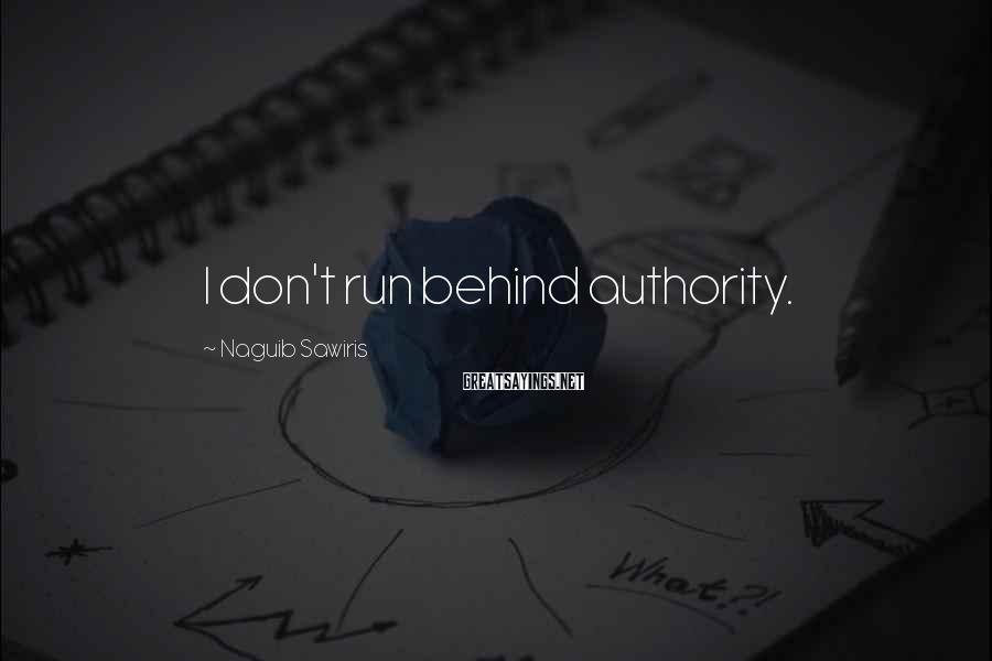 Naguib Sawiris Sayings: I don't run behind authority.