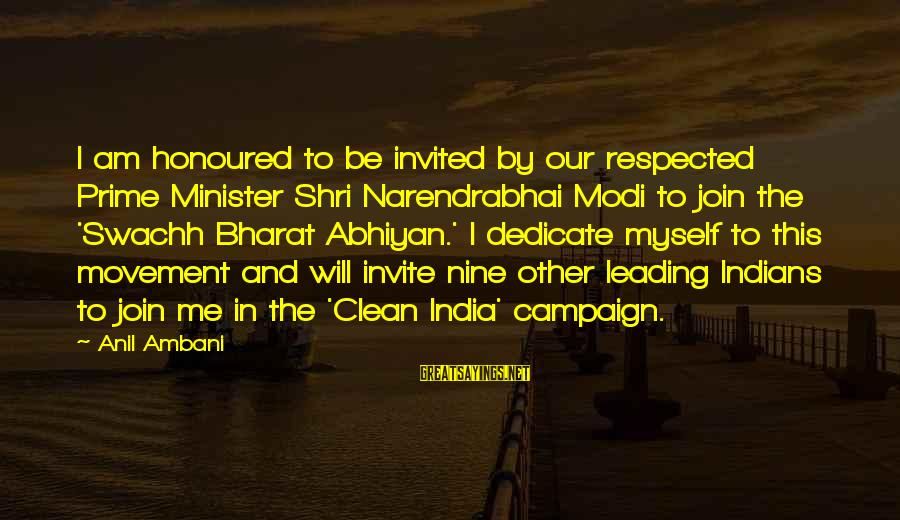 Narendrabhai Sayings By Anil Ambani: I am honoured to be invited by our respected Prime Minister Shri Narendrabhai Modi to