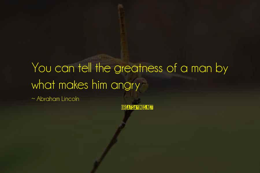 Nepo Quick Sayings By Abraham Lincoln: You can tell the greatness of a man by what makes him angry