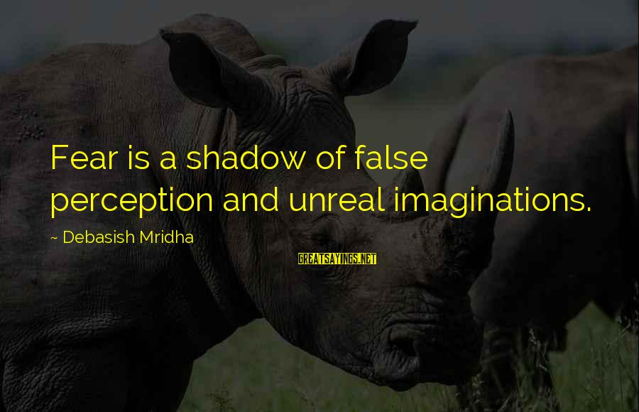 Nettie Maria Stevens Sayings By Debasish Mridha: Fear is a shadow of false perception and unreal imaginations.