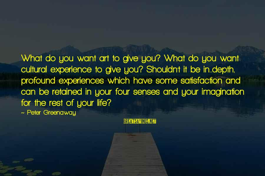 New Cell Phone Number Sayings By Peter Greenaway: What do you want art to give you? What do you want cultural experience to