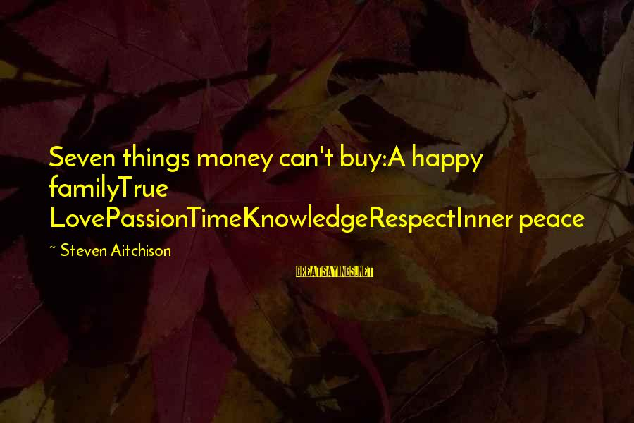 Nietzsche Relativism Sayings By Steven Aitchison: Seven things money can't buy:A happy familyTrue LovePassionTimeKnowledgeRespectInner peace