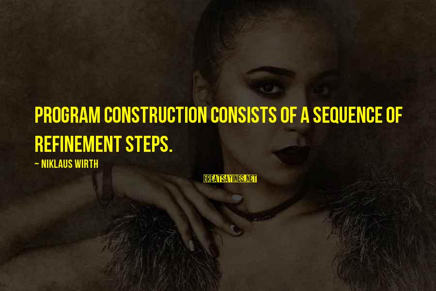 Niklaus Sayings By Niklaus Wirth: Program construction consists of a sequence of refinement steps.
