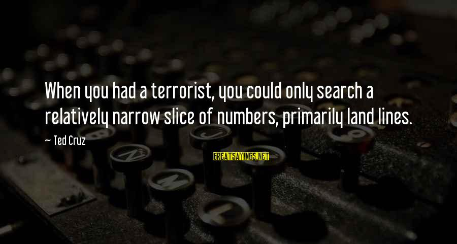 Nilekani Sayings By Ted Cruz: When you had a terrorist, you could only search a relatively narrow slice of numbers,