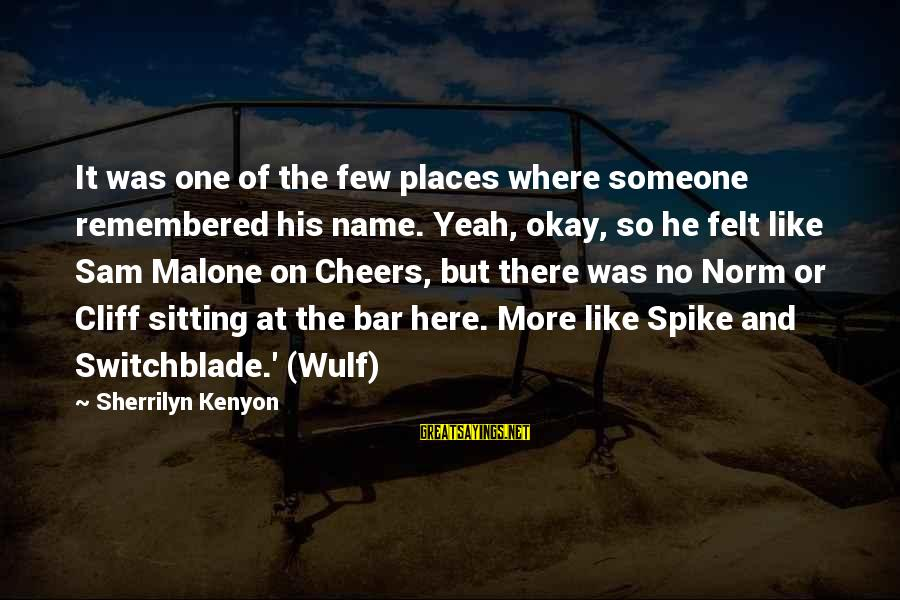 Norm Cheers Sayings By Sherrilyn Kenyon: It was one of the few places where someone remembered his name. Yeah, okay, so