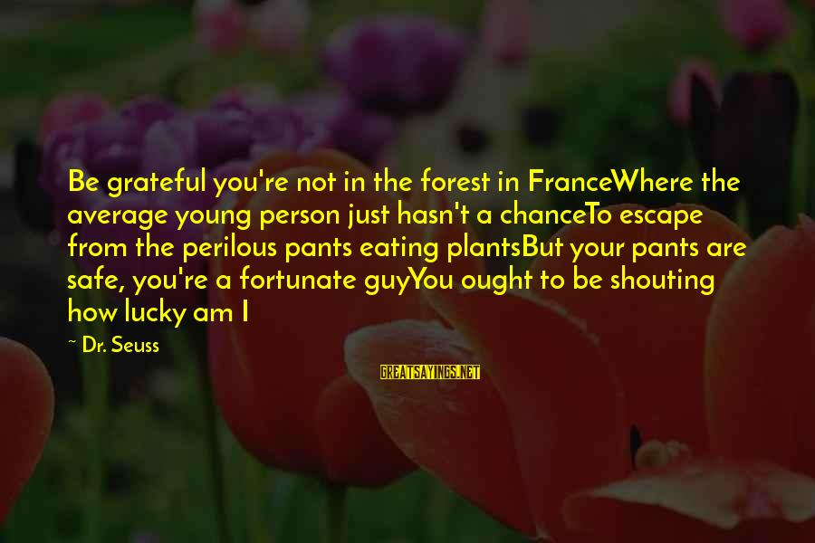 Not Your Average Sayings By Dr. Seuss: Be grateful you're not in the forest in FranceWhere the average young person just hasn't