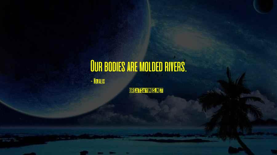 Novalis's Sayings By Novalis: Our bodies are molded rivers.