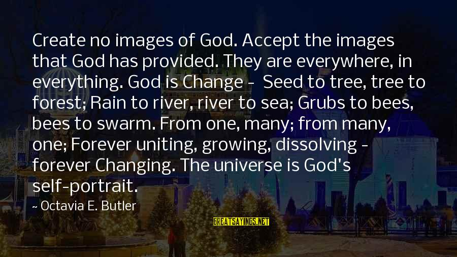 Octavia E Butler Sayings By Octavia E. Butler: Create no images of God. Accept the images that God has provided. They are everywhere,