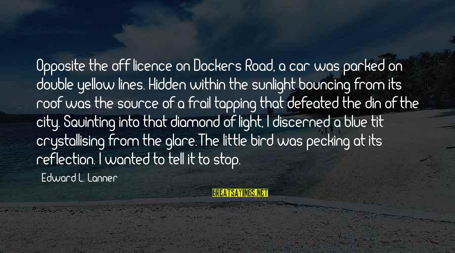 Off Road Car Sayings By Edward L. Lanner: Opposite the off-licence on Dockers Road, a car was parked on double-yellow lines. Hidden within