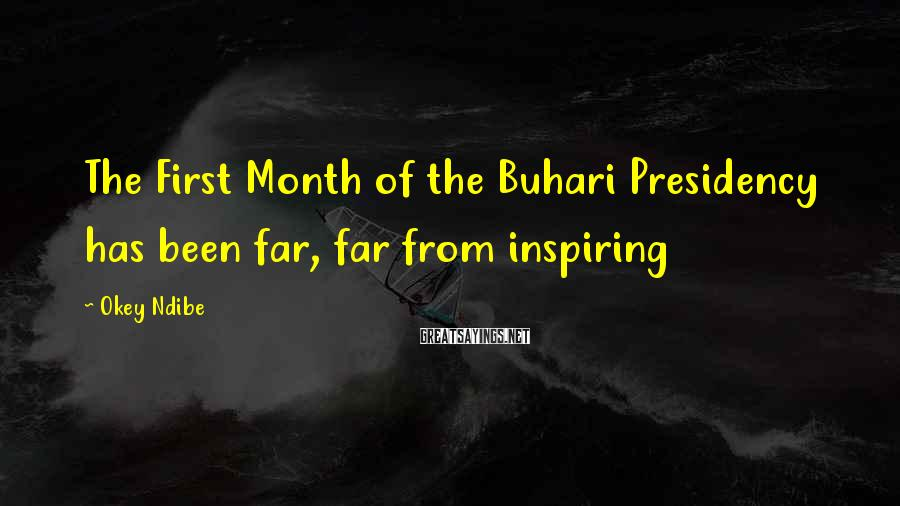 Okey Ndibe Sayings: The First Month of the Buhari Presidency has been far, far from inspiring