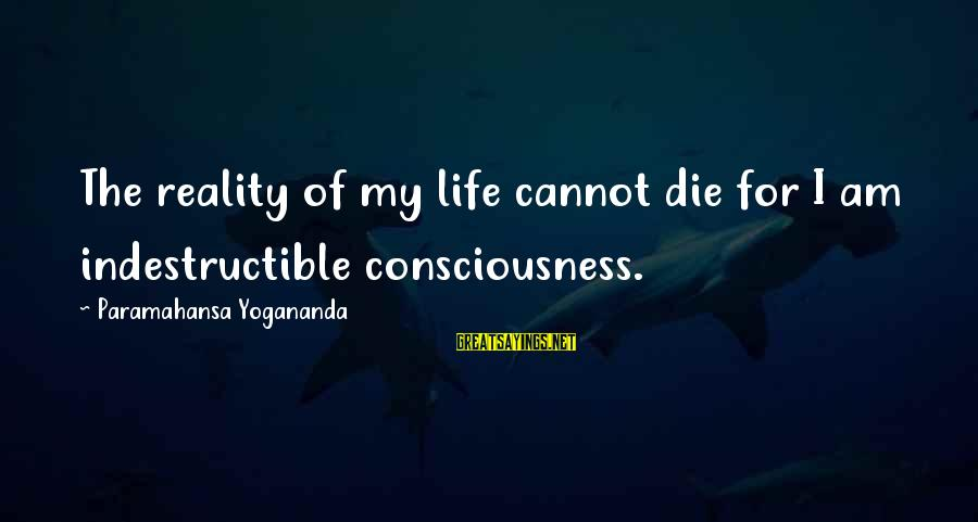 One More Pallbearer Sayings By Paramahansa Yogananda: The reality of my life cannot die for I am indestructible consciousness.