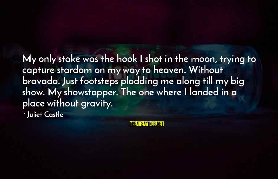 One Shot Life Sayings By Juliet Castle: My only stake was the hook I shot in the moon, trying to capture stardom
