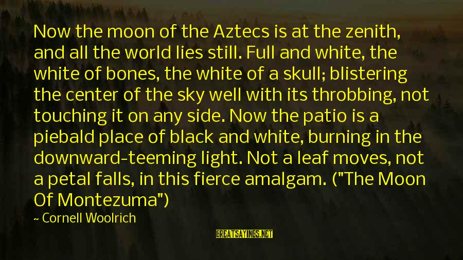 Orphans Sad Sayings By Cornell Woolrich: Now the moon of the Aztecs is at the zenith, and all the world lies
