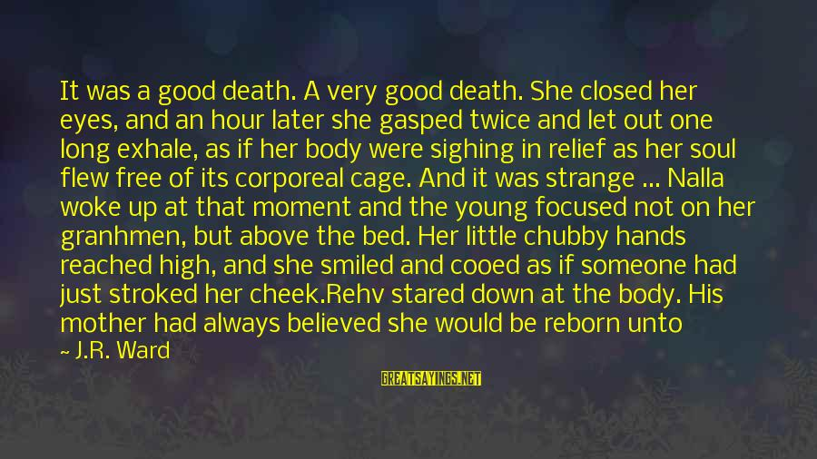 Pain And Death Sayings By J.R. Ward: It was a good death. A very good death. She closed her eyes, and an