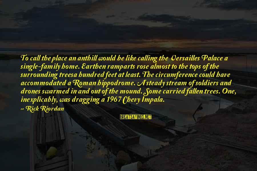 Palace Of Versailles Sayings By Rick Riordan: To call the place an anthill would be like calling the Versailles Palace a single-family