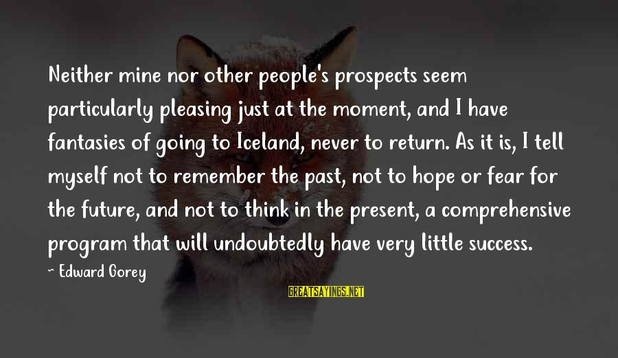 Past And Future Success Sayings By Edward Gorey: Neither mine nor other people's prospects seem particularly pleasing just at the moment, and I