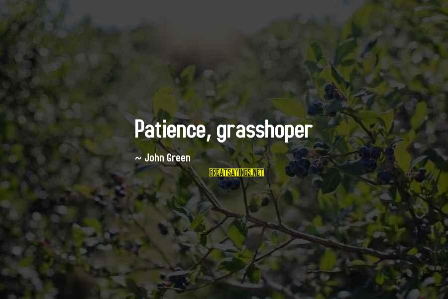Patrick Rothfuss Auri Sayings By John Green: Patience, grasshoper