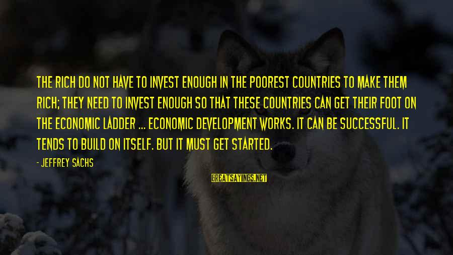 Patrick Wallflower Sayings By Jeffrey Sachs: The rich do not have to invest enough in the poorest countries to make them