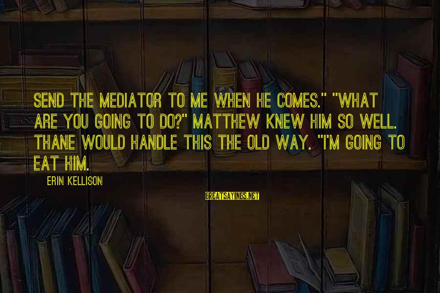 """Peter And Paul Movie Sayings By Erin Kellison: Send the mediator to me when he comes."""" """"What are you going to do?"""" Matthew"""