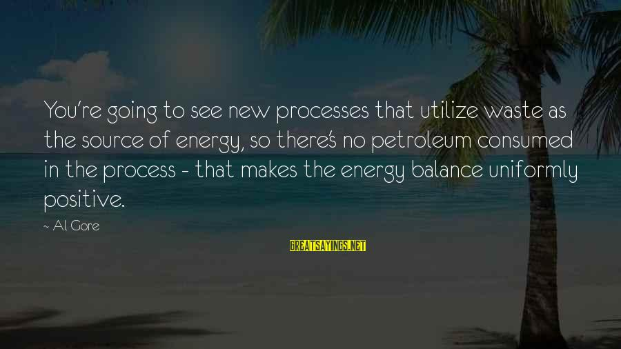 Petroleum's Sayings By Al Gore: You're going to see new processes that utilize waste as the source of energy, so