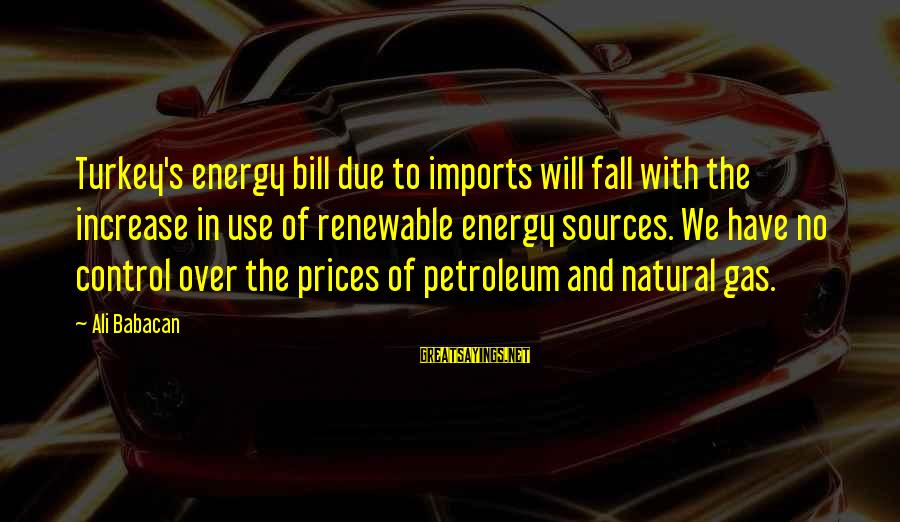 Petroleum's Sayings By Ali Babacan: Turkey's energy bill due to imports will fall with the increase in use of renewable