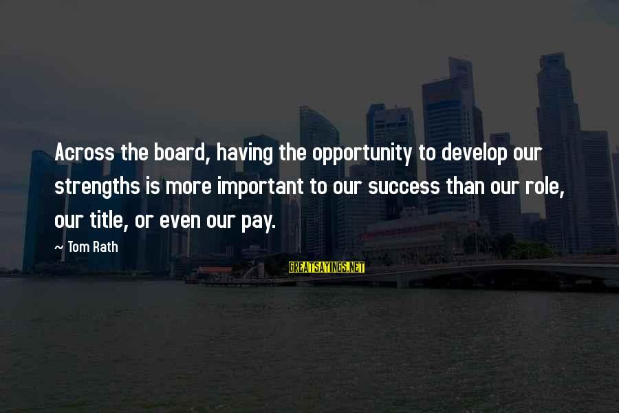 Phyllis Tickle Sayings By Tom Rath: Across the board, having the opportunity to develop our strengths is more important to our