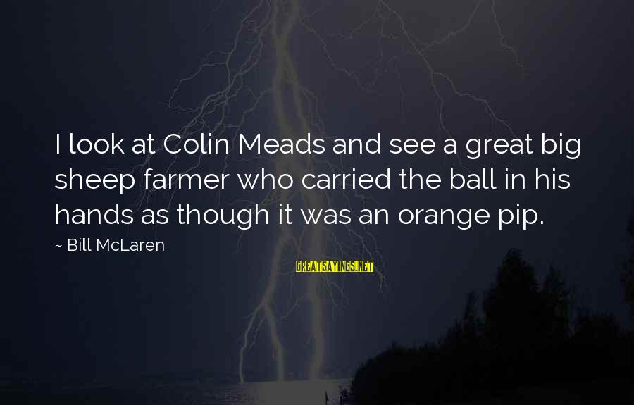 Pip Sayings By Bill McLaren: I look at Colin Meads and see a great big sheep farmer who carried the