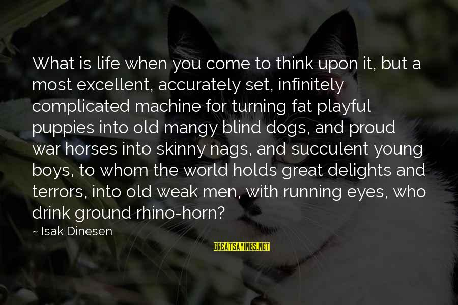Playful Life Sayings By Isak Dinesen: What is life when you come to think upon it, but a most excellent, accurately