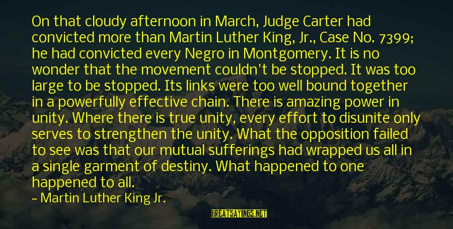 Powerfully Sayings By Martin Luther King Jr.: On that cloudy afternoon in March, Judge Carter had convicted more than Martin Luther King,