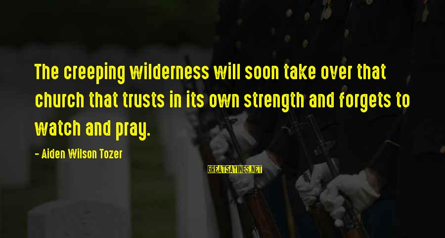 Pretending To Hate Someone You Like Sayings By Aiden Wilson Tozer: The creeping wilderness will soon take over that church that trusts in its own strength