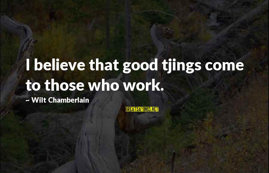 Quotes Ulang Tahun Sayings By Wilt Chamberlain: I believe that good tjings come to those who work.