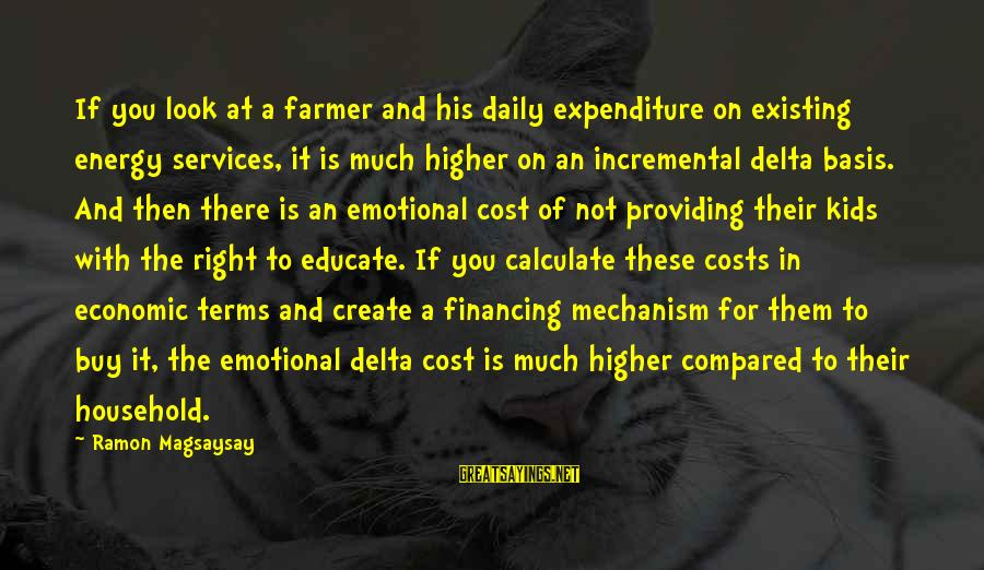 Ramon Magsaysay Sayings By Ramon Magsaysay: If you look at a farmer and his daily expenditure on existing energy services, it