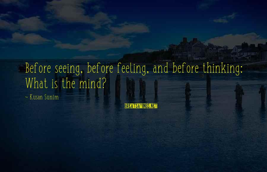 Rangely Sayings By Kusan Sunim: Before seeing, before feeling, and before thinking: What is the mind?