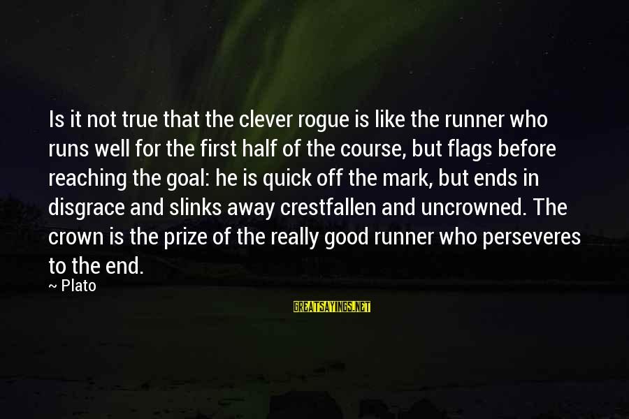 Reaching The End Sayings By Plato: Is it not true that the clever rogue is like the runner who runs well