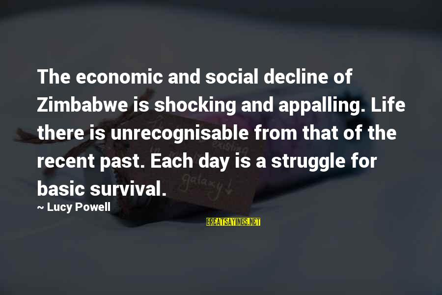 Recent Past Sayings By Lucy Powell: The economic and social decline of Zimbabwe is shocking and appalling. Life there is unrecognisable