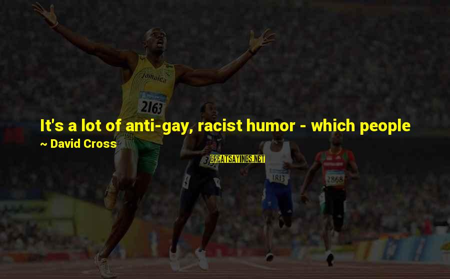 Redneck American Pride Sayings By David Cross: It's a lot of anti-gay, racist humor - which people like in America - all