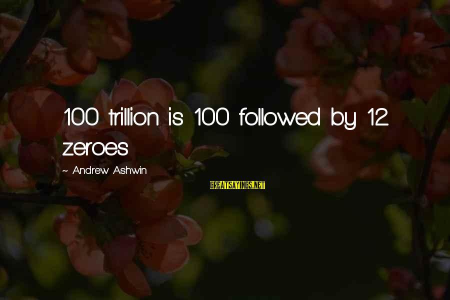 Reinterprets Sayings By Andrew Ashwin: 100 trillion is 100 followed by 12 zeroes