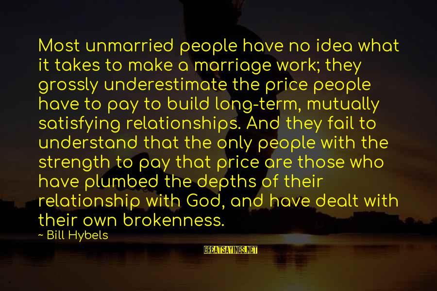 Relationship Long Term Sayings By Bill Hybels: Most unmarried people have no idea what it takes to make a marriage work; they