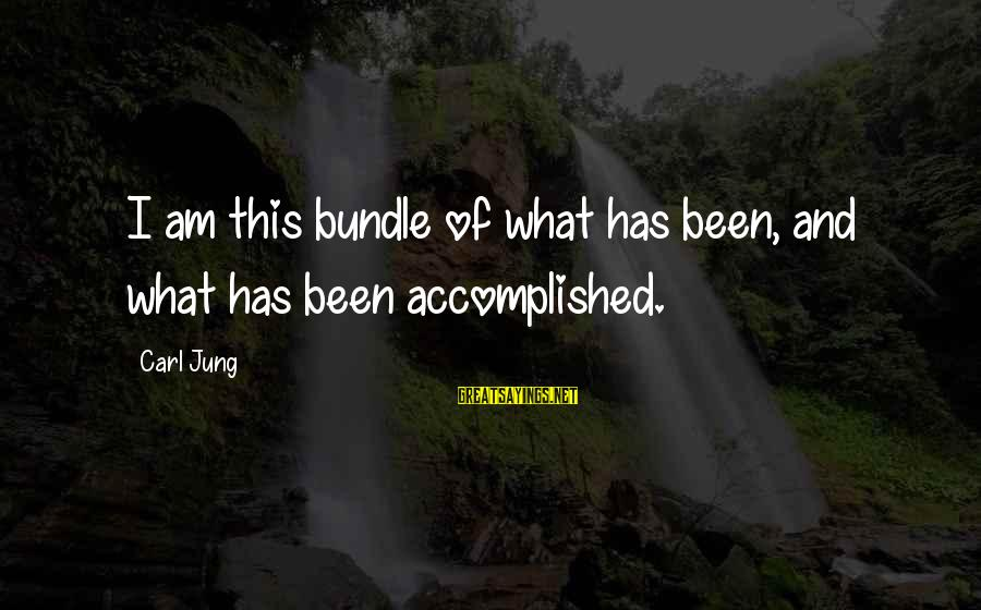 Relationwith Sayings By Carl Jung: I am this bundle of what has been, and what has been accomplished.