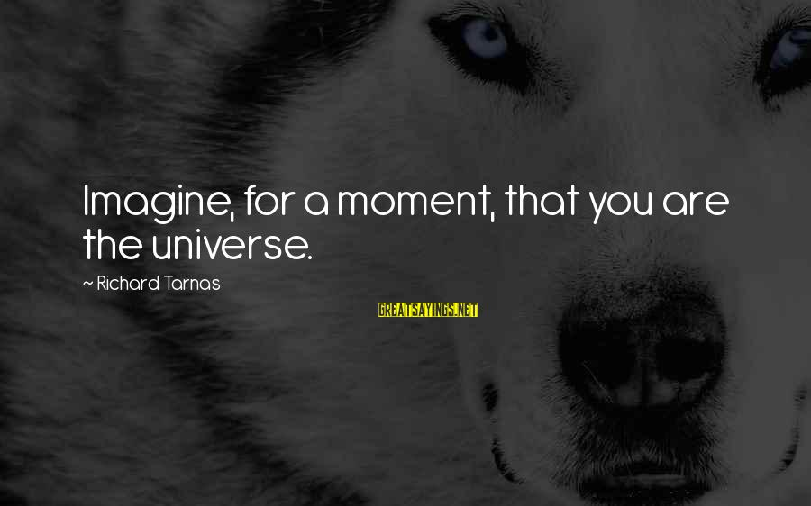 Richard Tarnas Sayings By Richard Tarnas: Imagine, for a moment, that you are the universe.