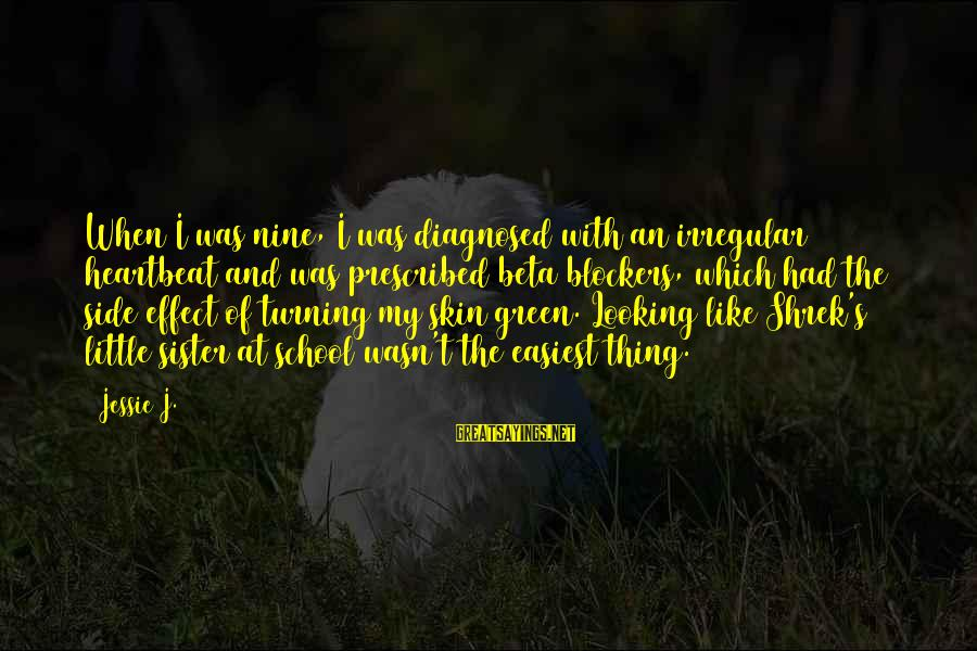 Rj Lupin Sayings By Jessie J.: When I was nine, I was diagnosed with an irregular heartbeat and was prescribed beta