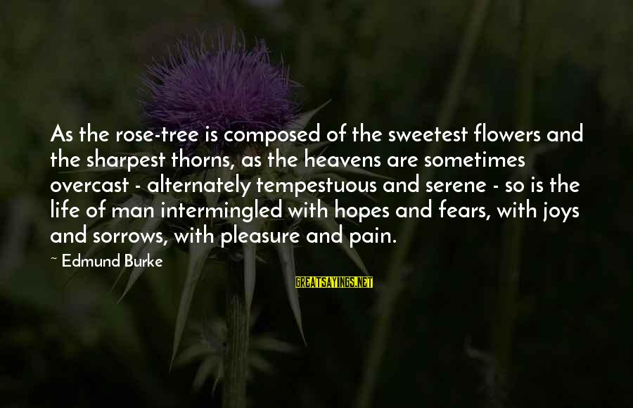 Rose And Thorns Sayings By Edmund Burke: As the rose-tree is composed of the sweetest flowers and the sharpest thorns, as the