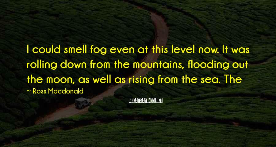 Ross Macdonald Sayings: I could smell fog even at this level now. It was rolling down from the