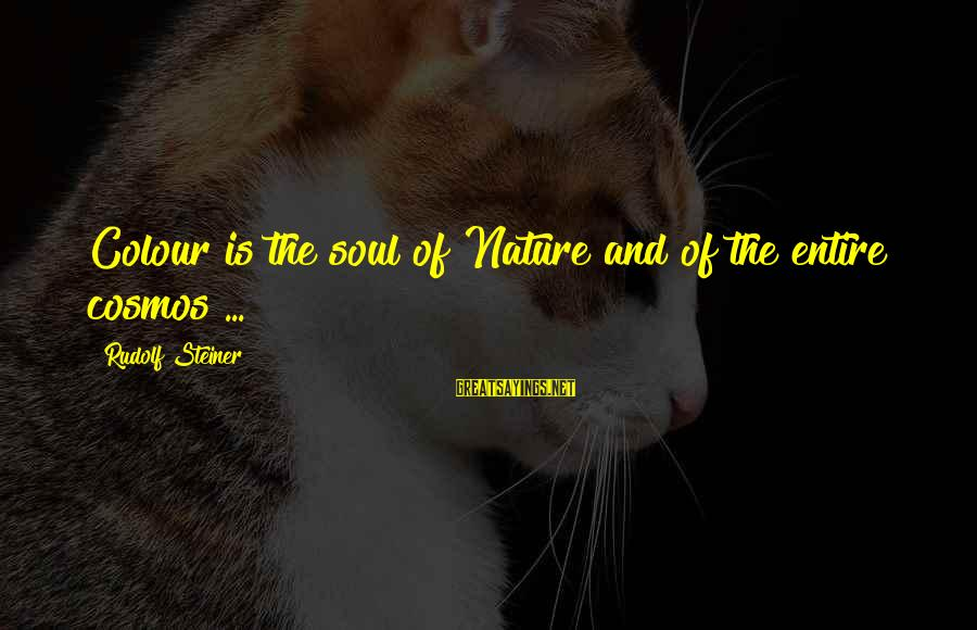 Rudolf Steiner Sayings By Rudolf Steiner: Colour is the soul of Nature and of the entire cosmos ...