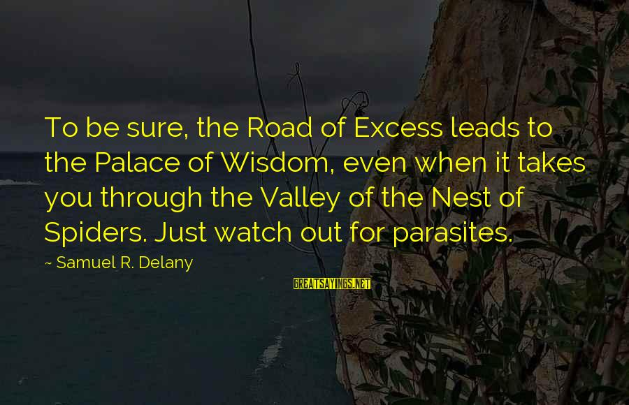 Samuel Delany Sayings By Samuel R. Delany: To be sure, the Road of Excess leads to the Palace of Wisdom, even when