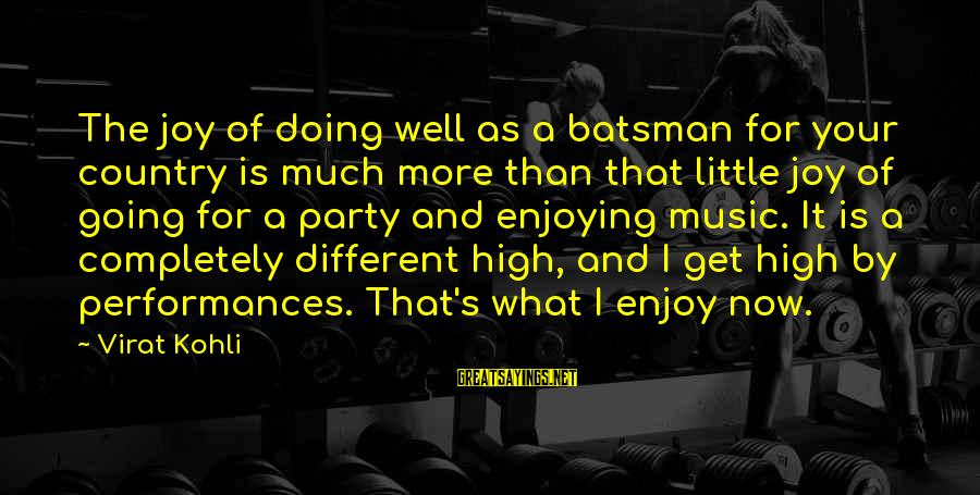 Scaring Love Sayings By Virat Kohli: The joy of doing well as a batsman for your country is much more than
