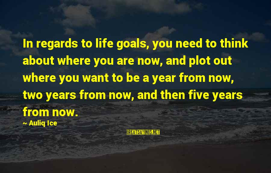 Setting Goals In Life Sayings By Auliq Ice: In regards to life goals, you need to think about where you are now, and